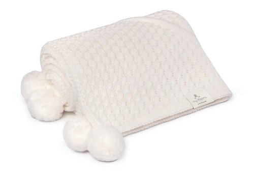 my memi my memi Bamboo Blanket With A Hood 90x90 Cream