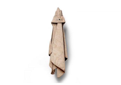 my memi my memi Bamboo Big Beige Towel - Cat 70x140