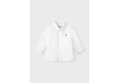 Mayoral Mayoral Basic L/S Shirt  White  124-28