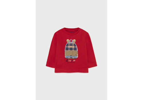 """Mayoral Mayoral L/S """"Play"""" T-Shirt  Red  2064-39"""