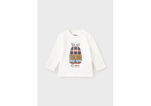 """Mayoral Mayoral L/S """"Play"""" T-Shirt  Cream  2064-40"""