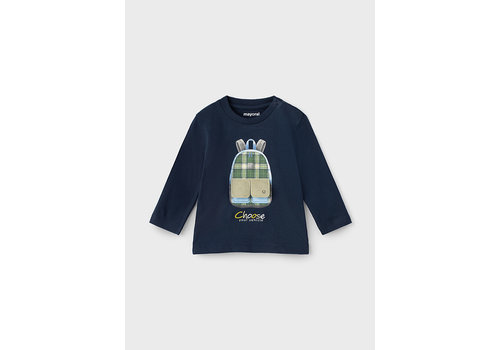 """Mayoral Mayoral L/S """"Play"""" T-Shirt  Blue 2064-41"""