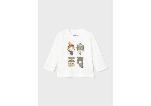 "Mayoral Mayoral L/S ""Fox"" T-Shirt Cream  2070-32"