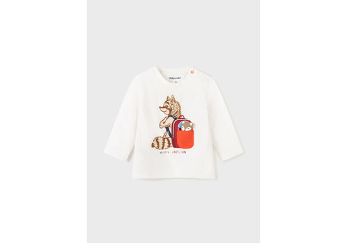 Mayoral Mayoral L/S Tshirt Play  Cream  2071-36