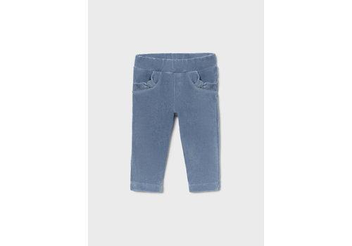 Mayoral Mayoral Basic Cord Knit Trousers  Indigo 514-41