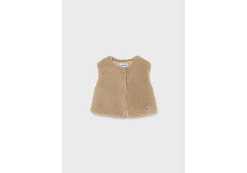 Mayoral Mayoral Faux Fur Vest  Beige  2390-16