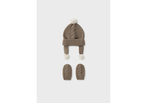 Mayoral Mayoral Hat And Mittens Set Bright Vis 9433-10