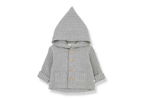 1+ In The Family 1+ In The Family Elliot Hood Jacket Grey