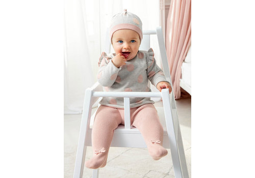 Mayoral Mayoral Knit Leg Warmer With Hat Set  Dusty Pink 2503-38