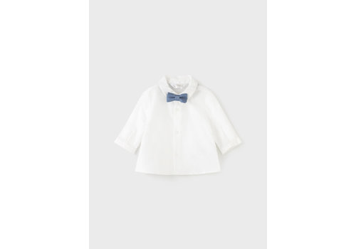 Mayoral Mayoral L/S Shirt And Bowtie    Natural    2138-24