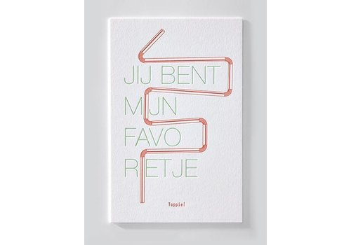 Papette ENNA | Postkaart met envelop | Jij bent mijn favorietje