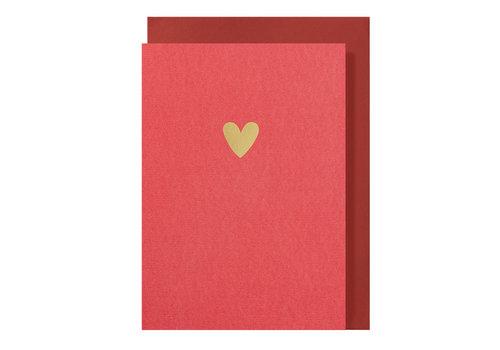 Papette LIEF | Postkaart met envelop | Hartje Rood