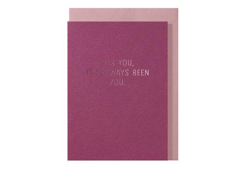 Papette LIEF | Postkaart met envelop | It's you, it's always been you