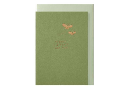 Papette LIEF | Postkaart met envelop | Be happy for ever and ever