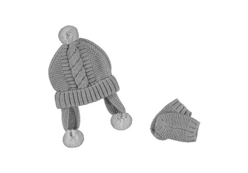 Mayoral Mayoral Hat And Mittens Set Silver 9433-14