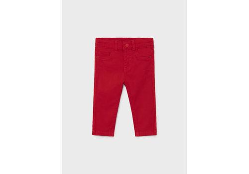 Mayoral Mayoral 5 Pocket Slim Fit Basic Pant  Red  563-28