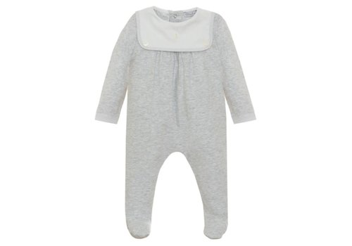 Patachou Patachou Baby Boy Playsuit - Knit Melange Grey