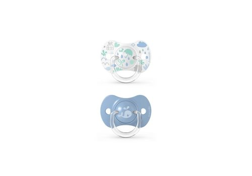 Suavinex SX - Memories - Soother - Sili. - Reversible - +18M - Blue Duo
