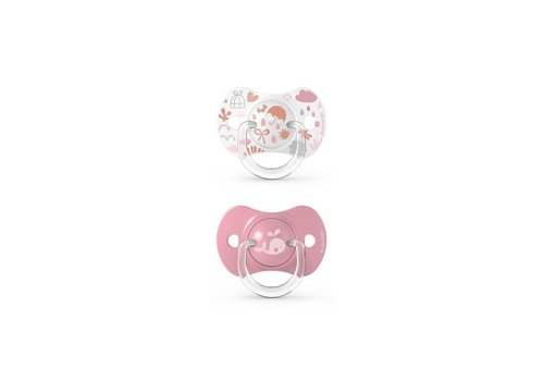 Suavinex SX - Memories - Soother - Sili. - Reversible - +18M - Pink Duo