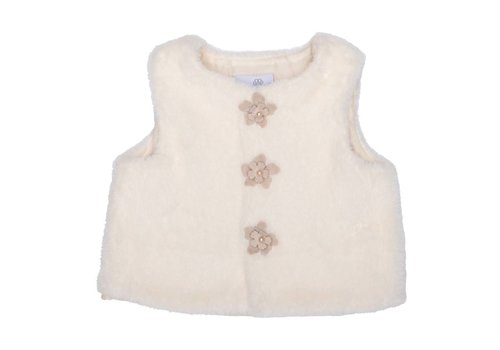 Natini Natini Gilet Fur Flower Cream