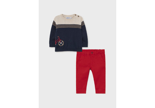 Mayoral Mayoral Sweater & Pant Set  Red  2538-91