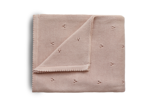 Mushie Mushie Blanket Pointelle Blush
