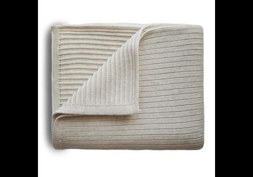 Mushie Mushie Blanket Ribbed Beige Melange