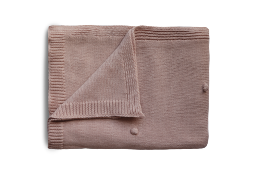 Mushie Mushie Blanket Textured Dots Blush
