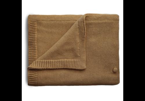 Mushie Mushie Blanket Textured Dots Mustard Melange