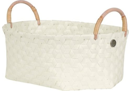 Handed By Handed By Dimensional Basket 37x28x16Cm Ecru White