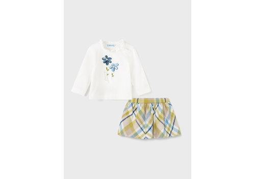 Mayoral Mayoral Plaid Skirt Set  Olive  2930-10