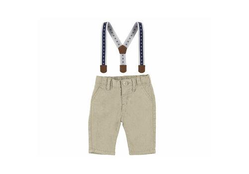 Mayoral Mayoral Long Pant W/Suspenders  Stone  2520-31