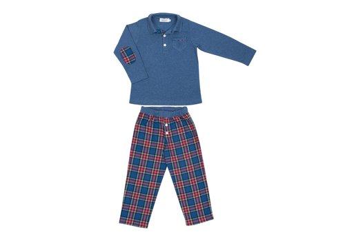 Cotolini Cotolini Pyjama Long Polo Marcel W Tartan T30 Jeans