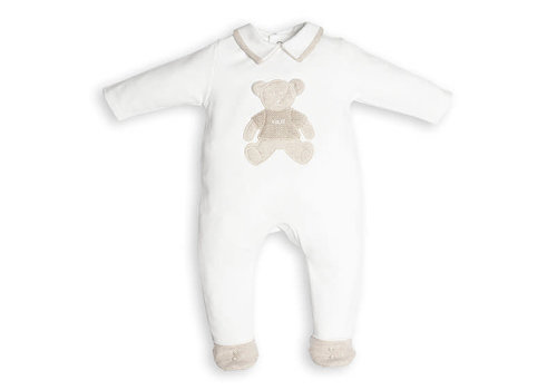 My First Collection First Combi Teddy Bear On Frontside White-Beige