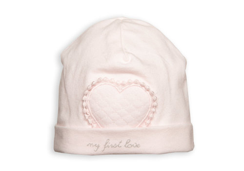My First Collection First Bonnet Heart Lace Blush Pink