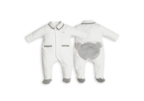 My First Collection First Combi Teddy Bear Backside White-Grey