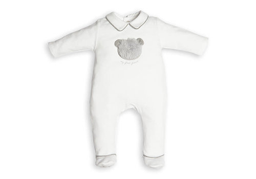 My First Collection First Combi Teddy Bear Fur White-Grey