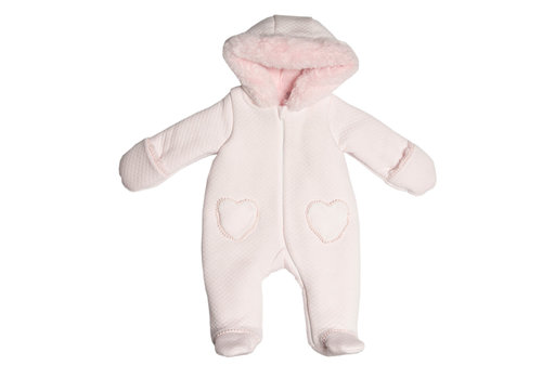 My First Collection First Hooded Pilote Montreal 2 Heart Pockets Blush Pink