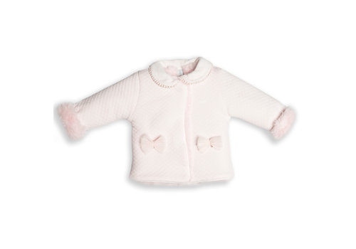 My First Collection First Jacket Montreal 2 Bows Blush Pink