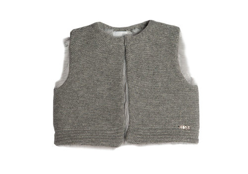 My First Collection First Knitted Waistcoat Grey