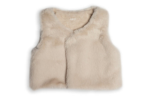 My First Collection First Fur Waistcoat Beige