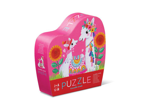 Crocodile Creek Mini Puzzle 12pc Llama Love