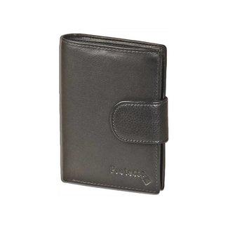 Protecto Clip Portemonnee RFID - Leer - Zwart