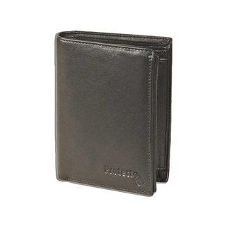 Protecto Leren Billfold Portemonnee RFID - Staand Model - Zwart