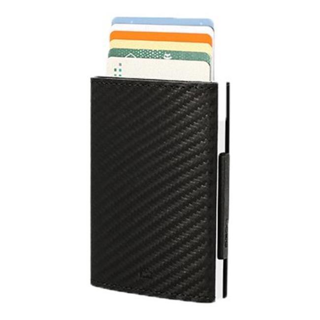 Ogon Designs Cascade Leren RFID Cardprotector Carbon