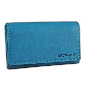 HillBurry VL77709 Leren Dames Portemonnee Overslag Model Licht blauw