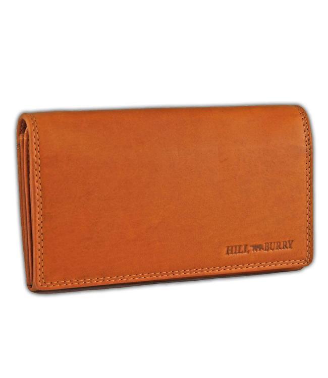 HillBurry VL77709 Leren Dames Portemonnee Overslag Model Oranje