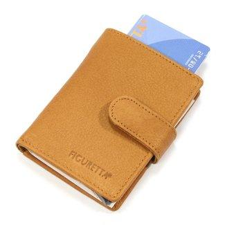 Figuretta Leren RFID Card Protector Creditcardhouder Nappa Cognac