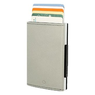 Ogon Designs Cascade Leren RFID Cardprotector Zilver