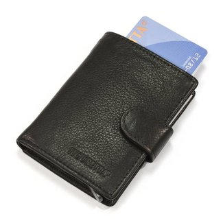 Figuretta Leren RFID Card Protector Creditcardhouder Nappa Zwart
